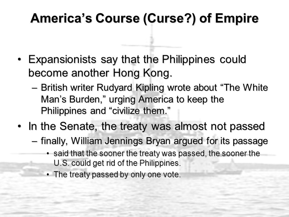 Expansionists say that the Philippines could become another Hong Kong.Expansionists say that the Philippines could become another Hong Kong.
