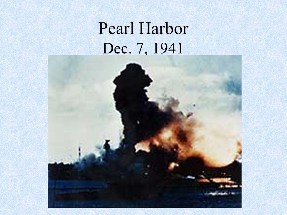 Pearl Harbor Dec. 7, 1941