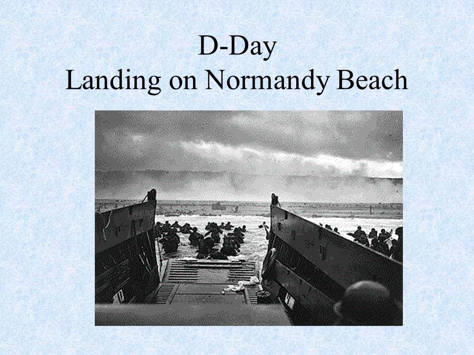 D-Day Landing on Normandy Beach