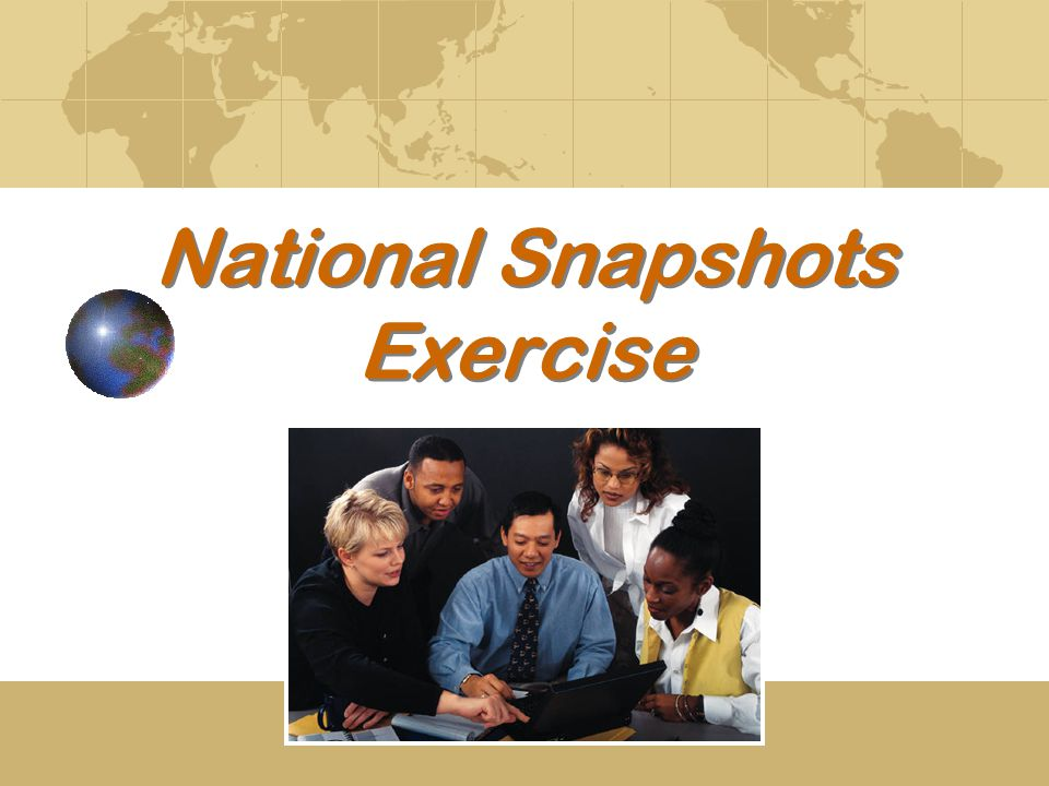 National Snapshots Exercise