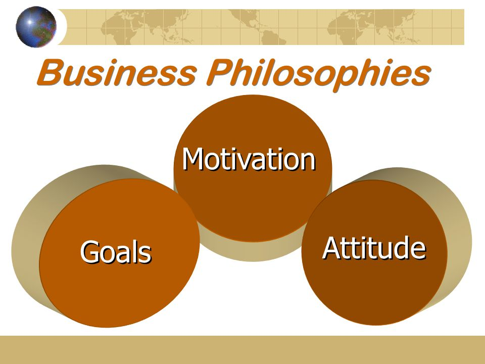 Business Philosophies Motivation Attitude Goals