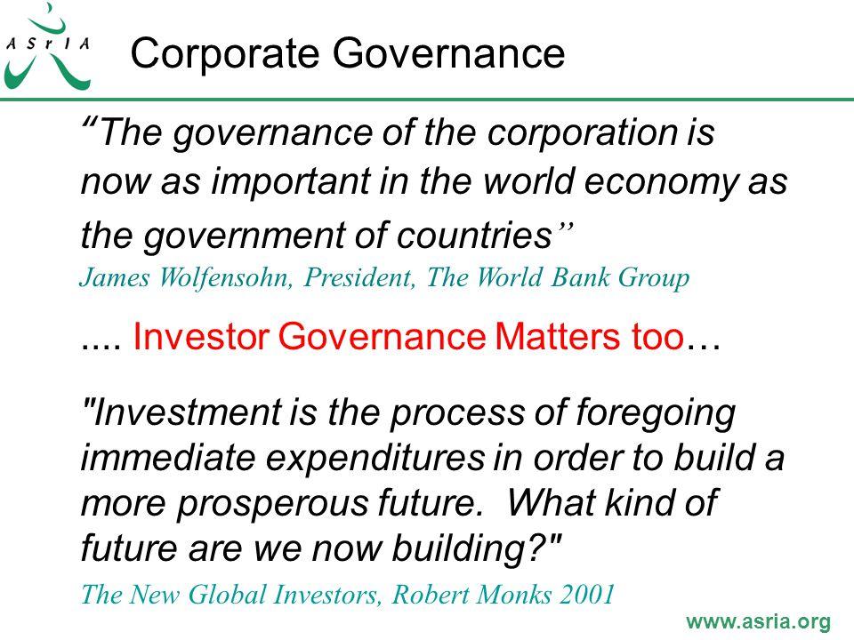 www.asria.org Investors ' Interests – Japan, UK, USA