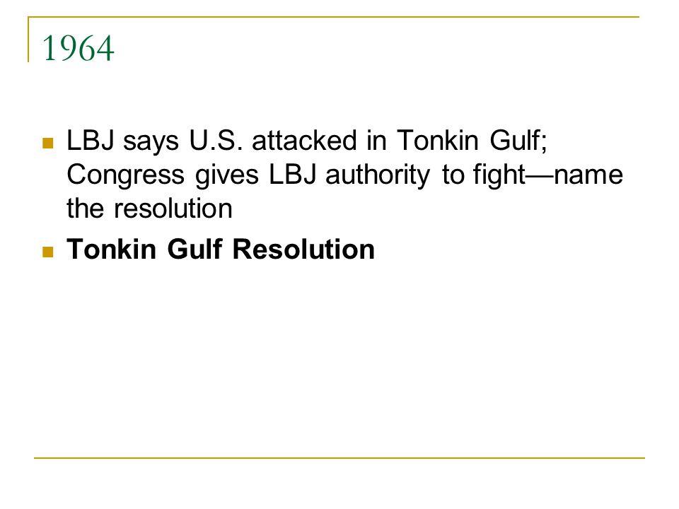 1964 LBJ says U.S.