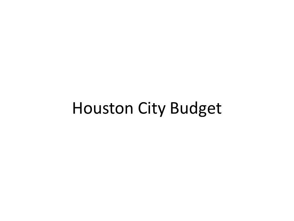 Houston City Budget