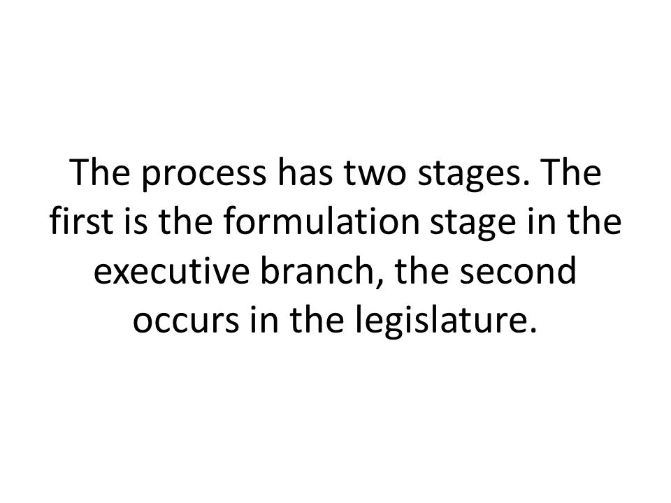 The process has two stages.