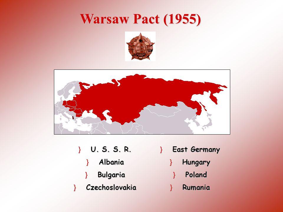 NATONATO Communistic Warsaw Pact