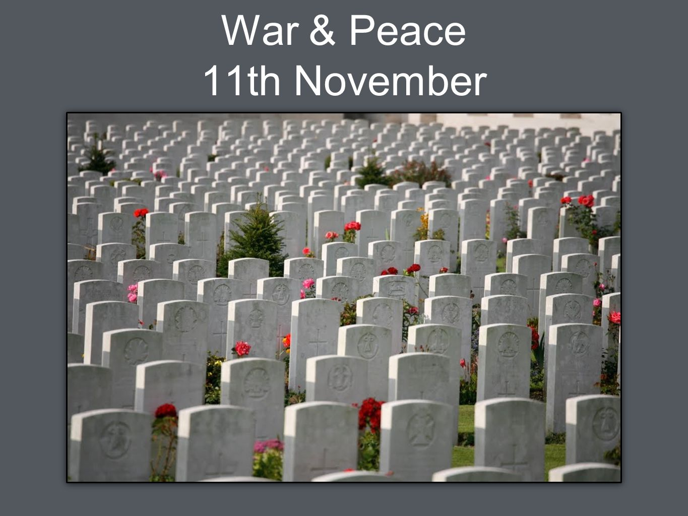 War & Peace 11th November