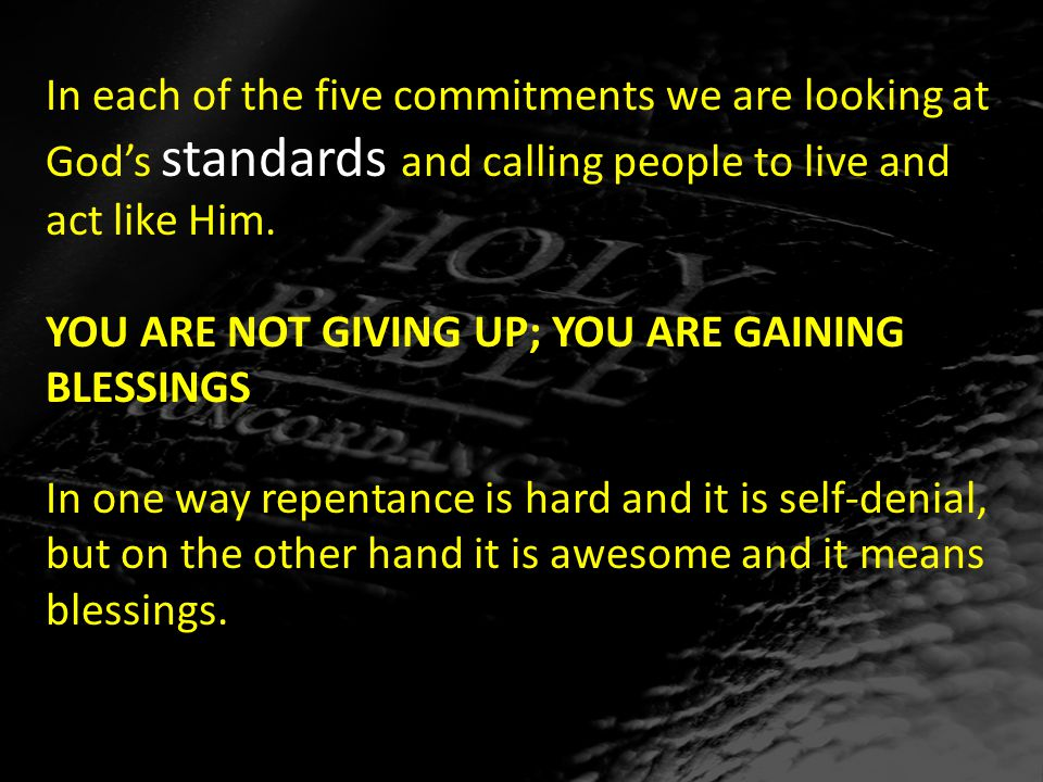 YOU ARE NOT GIVING UP; YOU ARE GAINING BLESSINGS 1 Peter 1:18: For you know that it was not with perishable things such as silver or gold that you were redeemed from the empty way of life handed down to you from your forefathers.