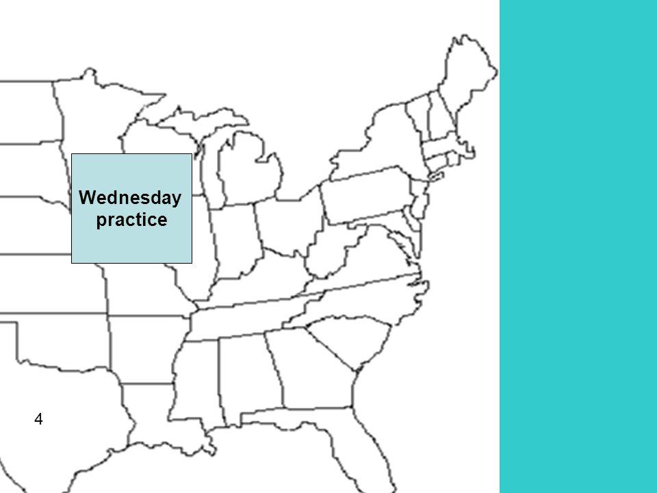4 Wednesday practice