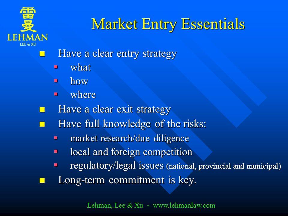 Lehman, Lee & Xu - www.lehmanlaw.com Carrefour Case Study Descentralized management.