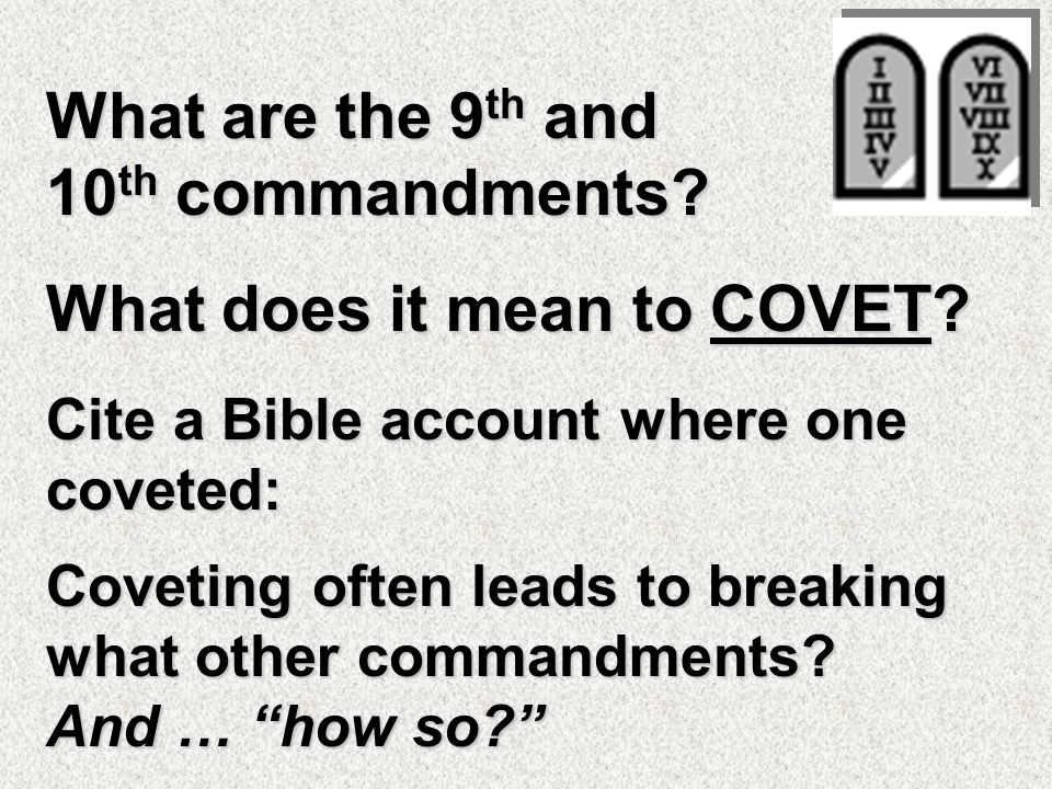 What is the EIGHTH commandment. What is false testimony .