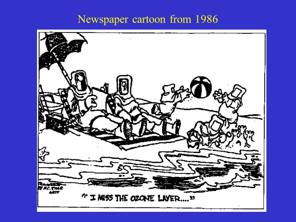 Newspaper cartoon from 1986