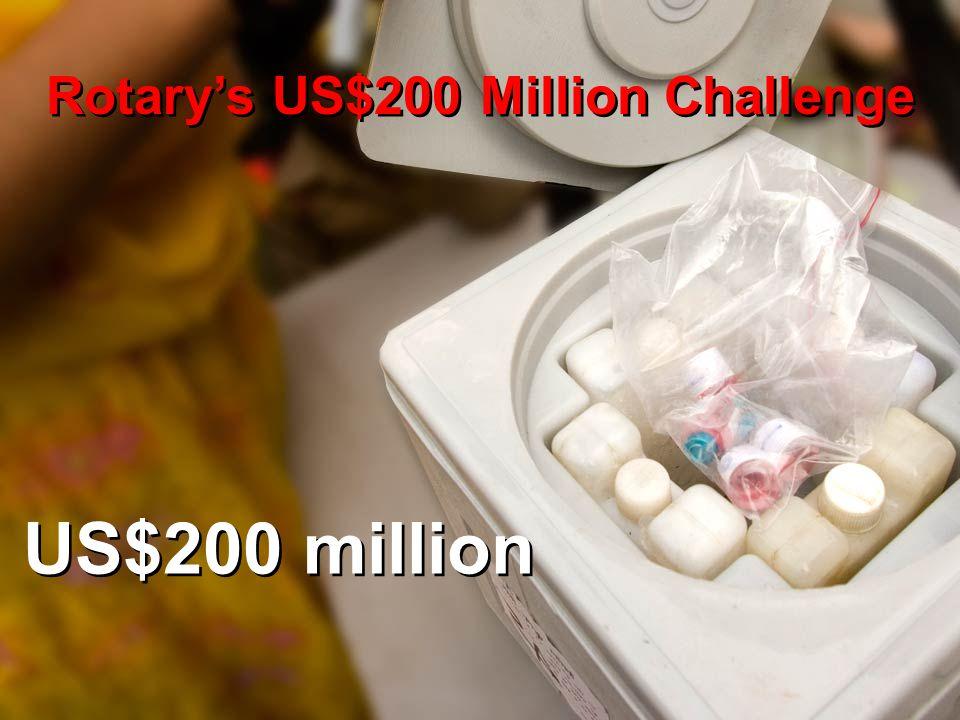 US$200 million Rotary's US$200 Million Challenge