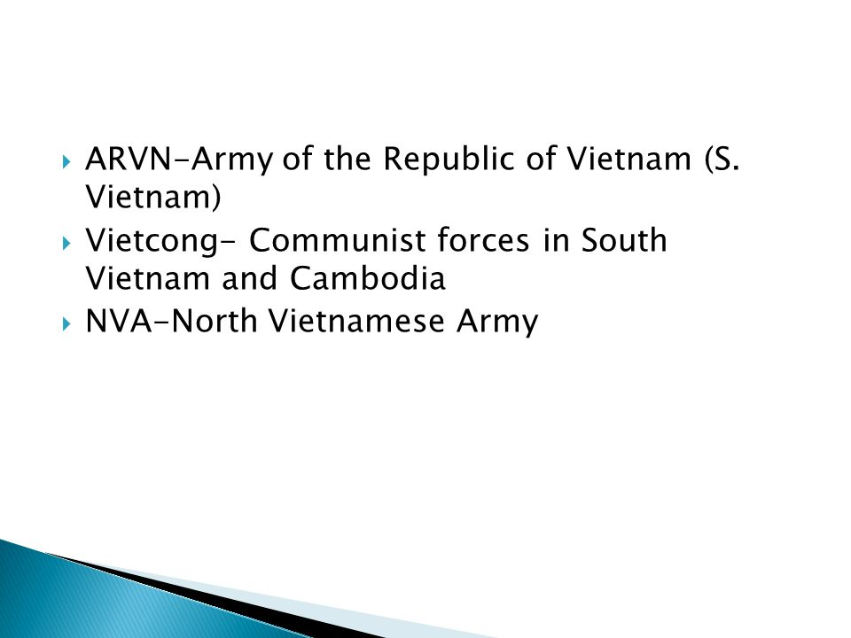  Background Info ◦ French controlled Vietnam after WWII ◦ Push for independence, led by communist Vietminh & Ho Chi Minh ◦ N.Vietnam controlled by communists, S.Vietnam controlled by French (US supports w/ money) ◦ Dien Bien Phu- French forced out of Vietnam (lost battle) ◦ Geneva Conference & Geneva Accords- Vietnam divided at 17 th parallel; to have free elections  US supports democratic S.Vietnam