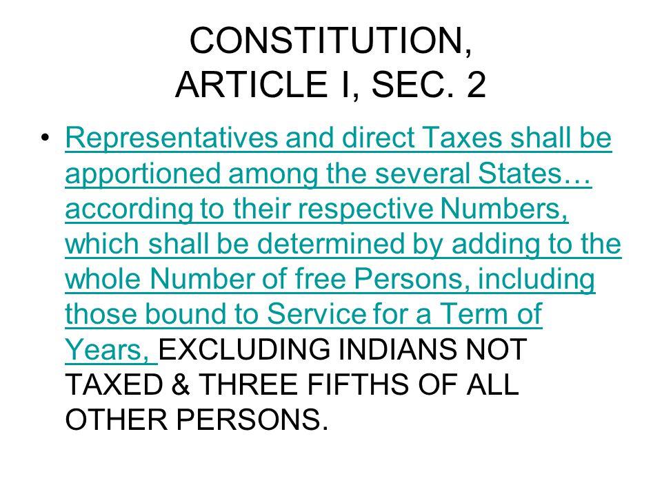 CONSTITUTION, ARTICLE I, SEC.