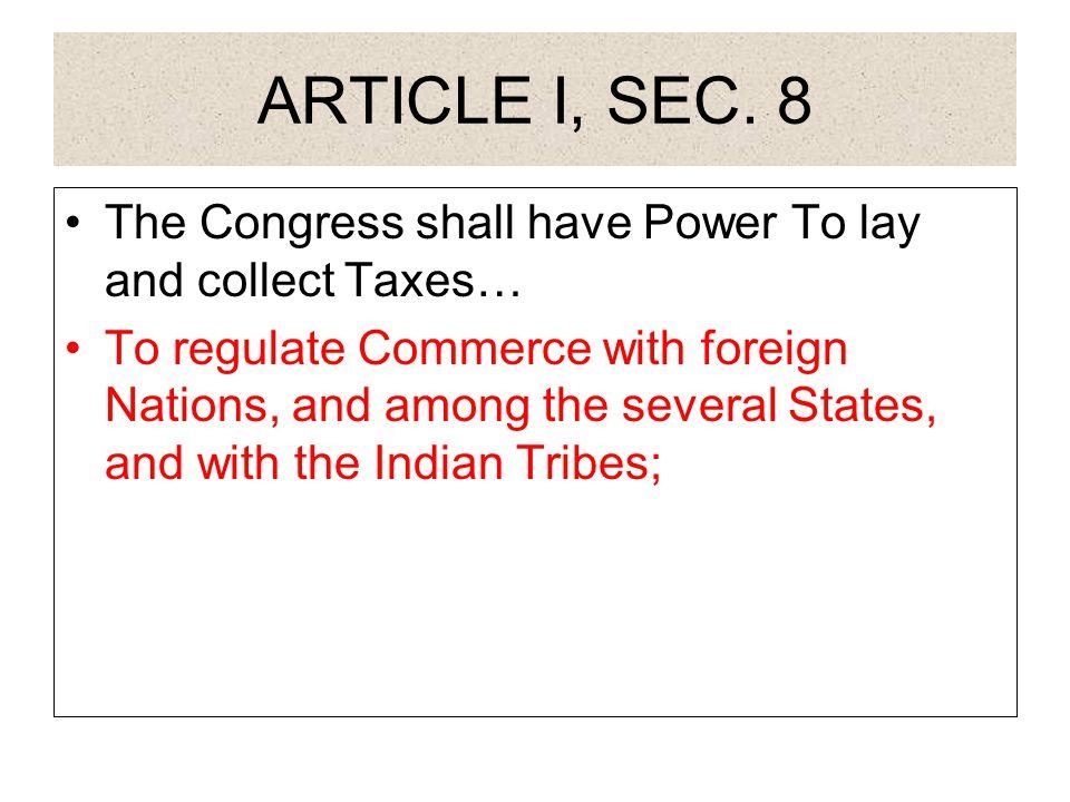 ARTICLE I, SEC.