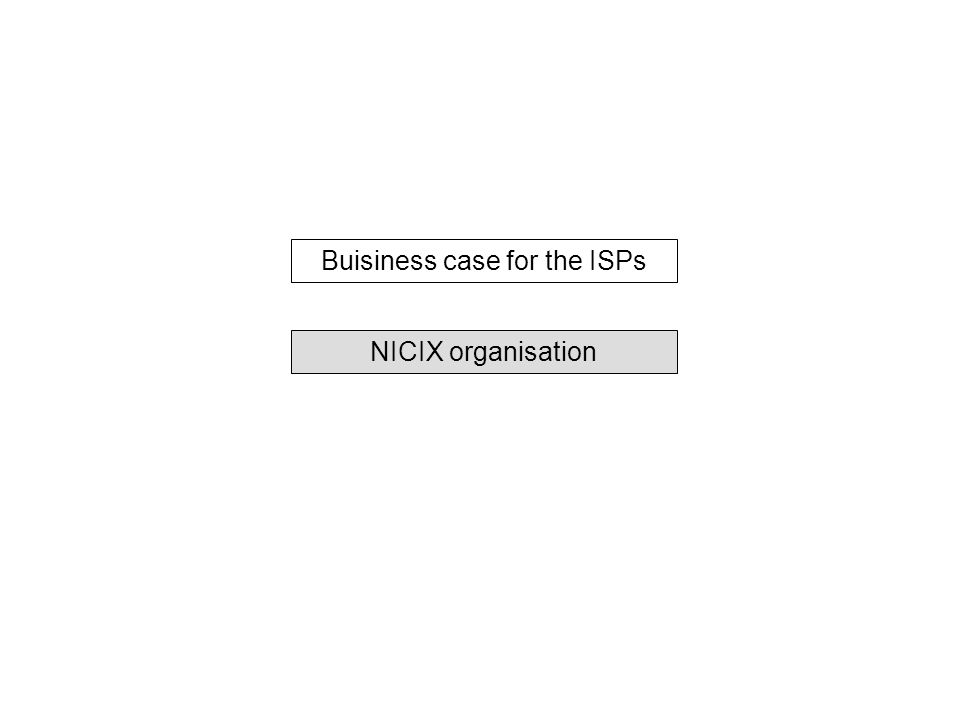 Buisiness case for the ISPs NICIX organisation