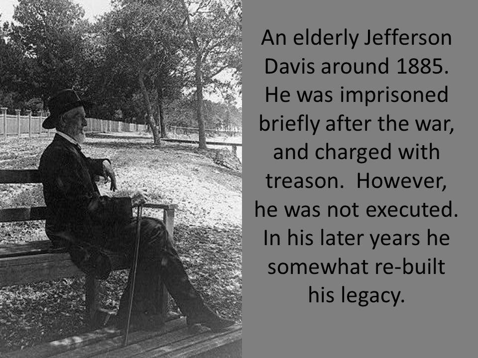 An elderly Jefferson Davis around 1885.