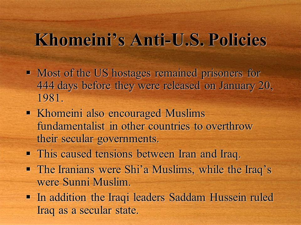 Khomeini's Anti-U.S.