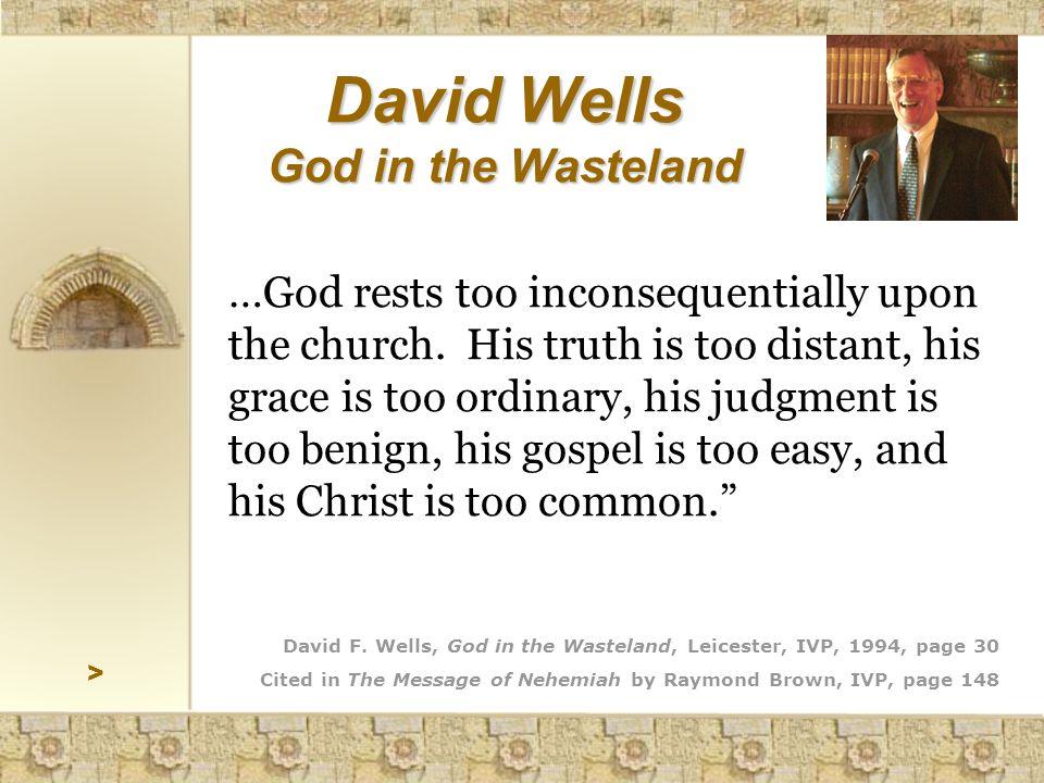 > David Wells God in the Wasteland David F.