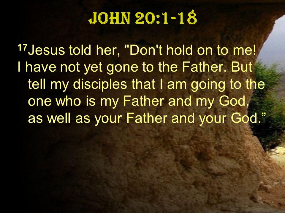 John 20:1-18 17 Jesus told her,