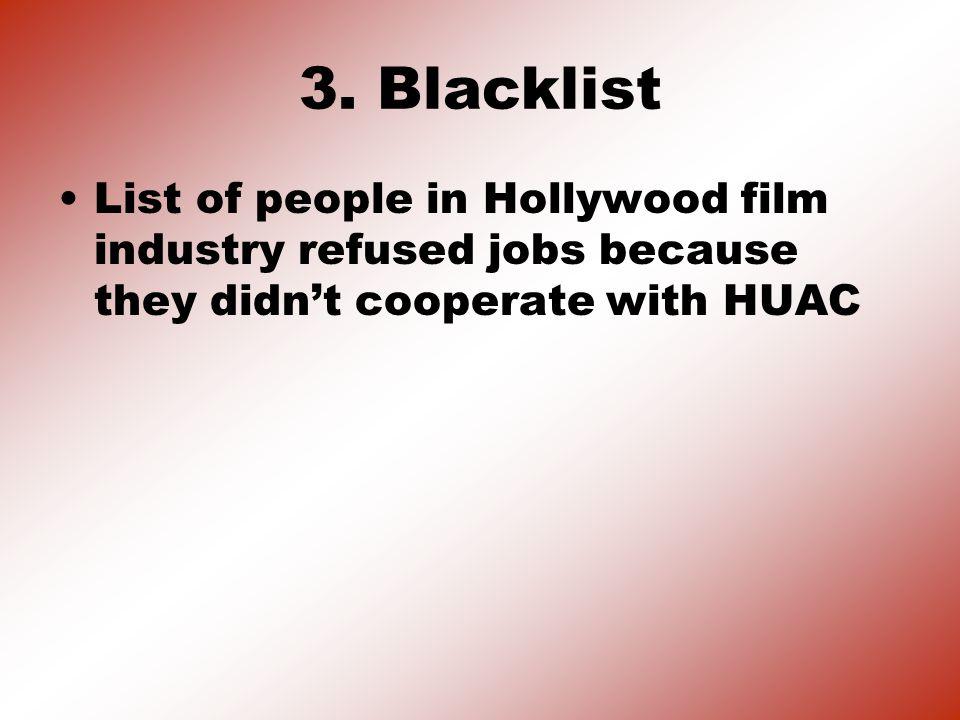 3. Blacklist