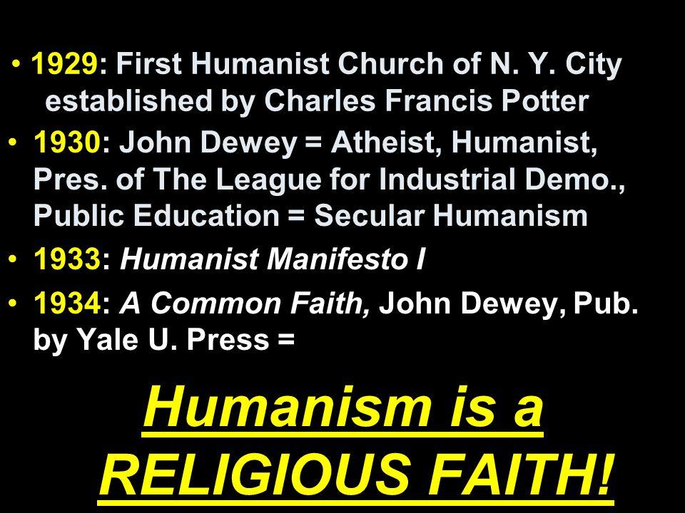 1929: First Humanist Church of N. Y.