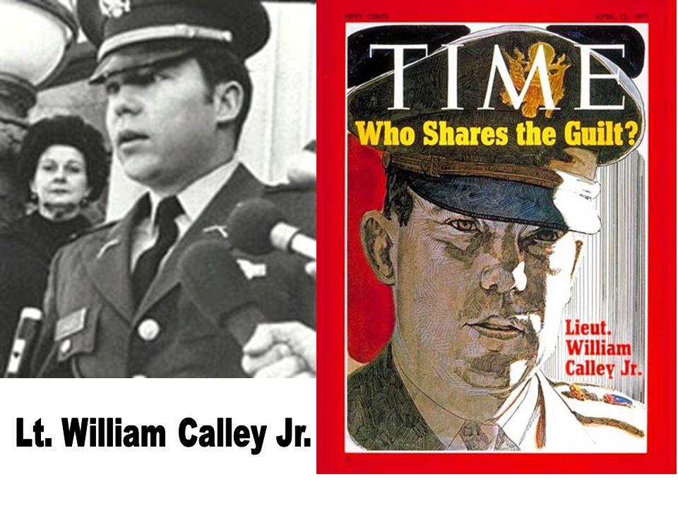 Lt. William Calley Jr.