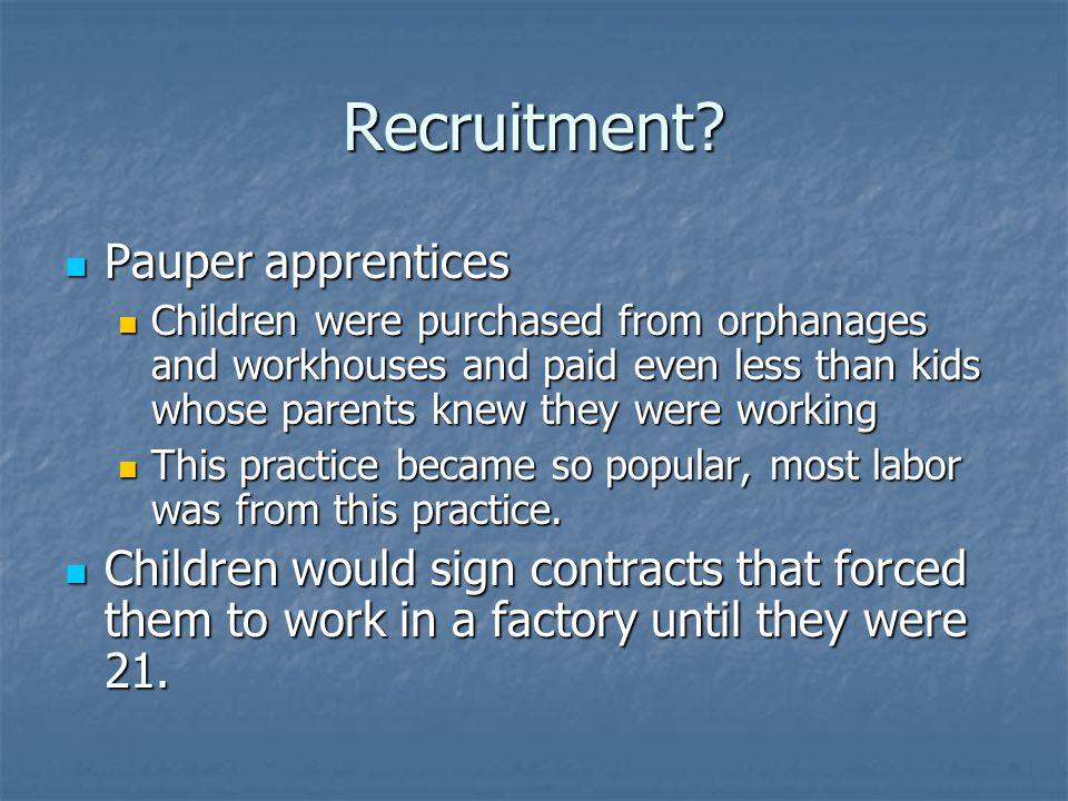 Recruitment.