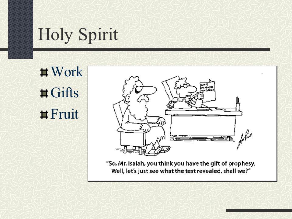 Holy Spirit Work Gifts Fruit