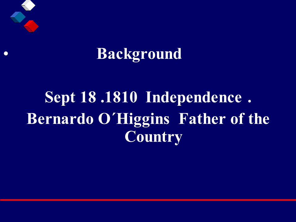 Background Sept 18.1810 Independence. Bernardo O´Higgins Father of the Country