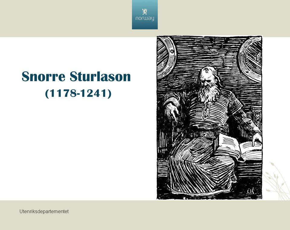 Utenriksdepartementet Snorre Sturlason (1178-1241)