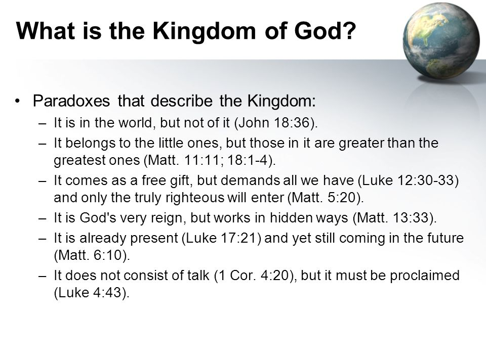 What is the Kingdom of God.