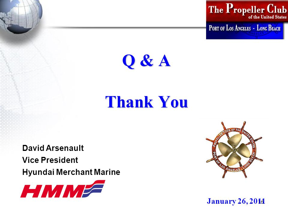 16 Q & A Thank You January 26, 2011 David Arsenault Vice President Hyundai Merchant Marine