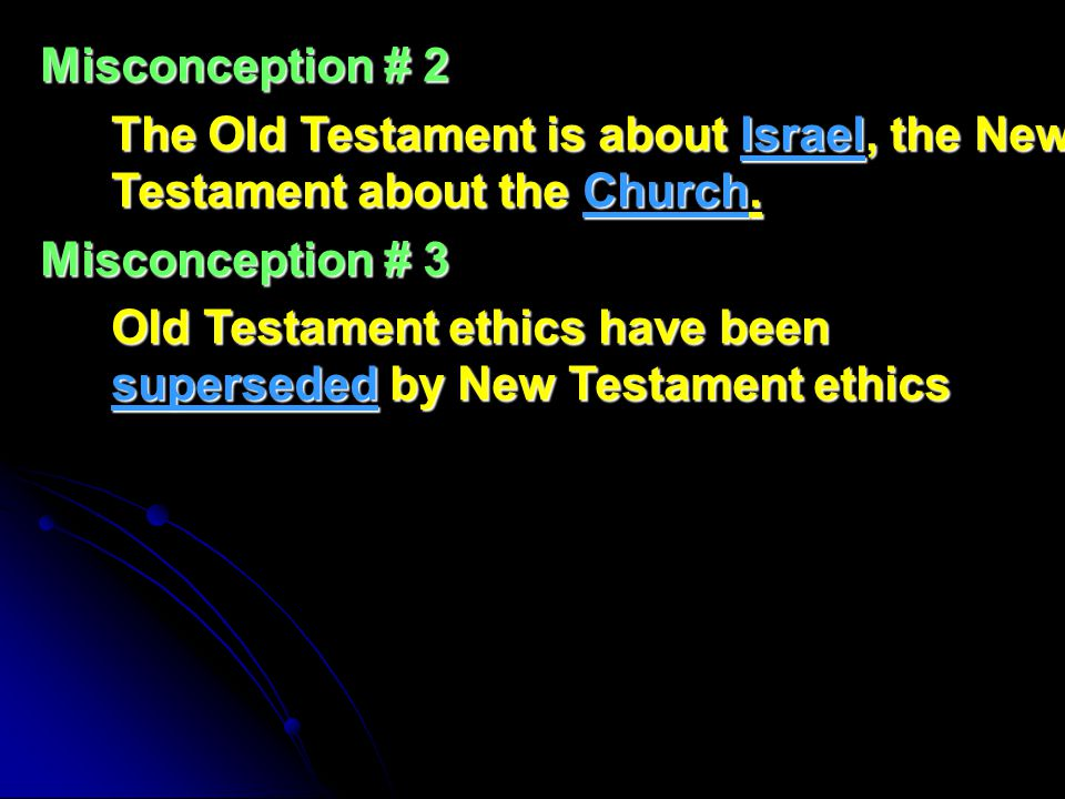 There are different kinds of ethics in the whole Bible, not just in one part or the other.