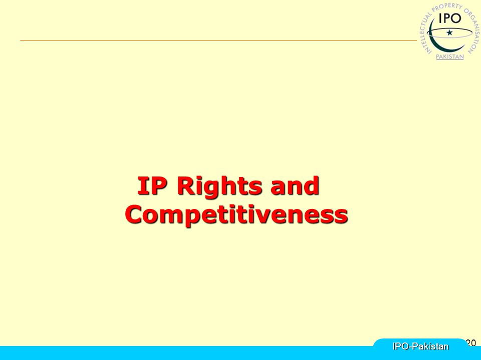 20 IP Rights and Competitiveness IPO-Pakistan