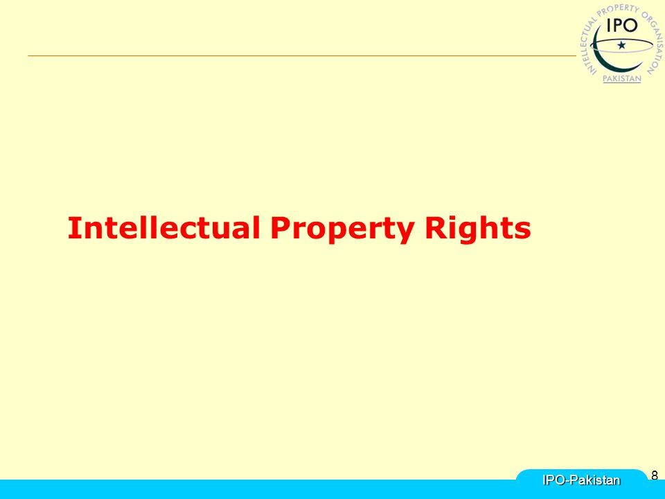 8 Intellectual Property Rights IPO-Pakistan