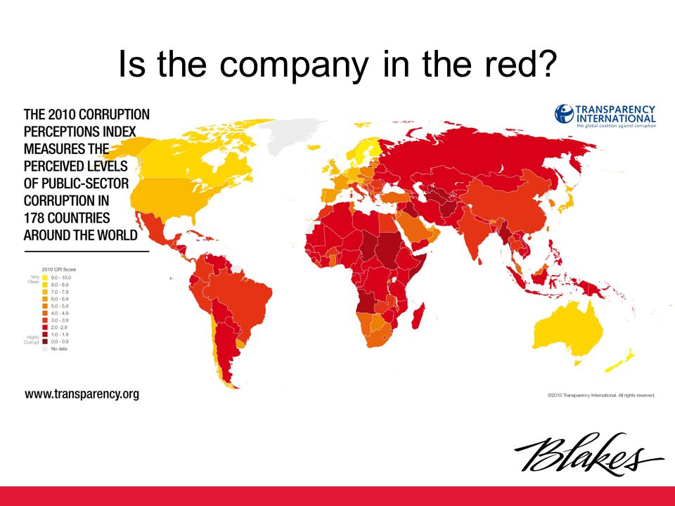 Is the company in the red?
