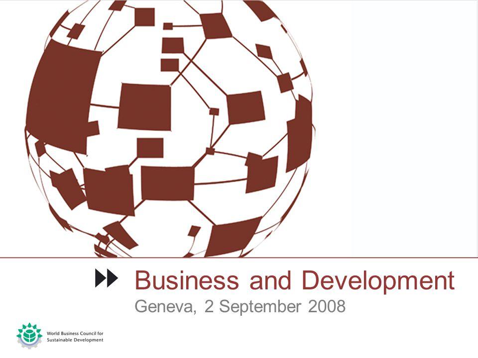 Business and Development Geneva, 2 September 2008