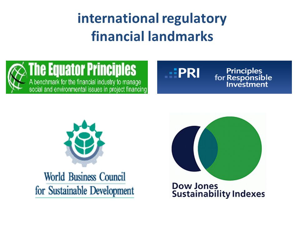 international regulatory financial landmarks