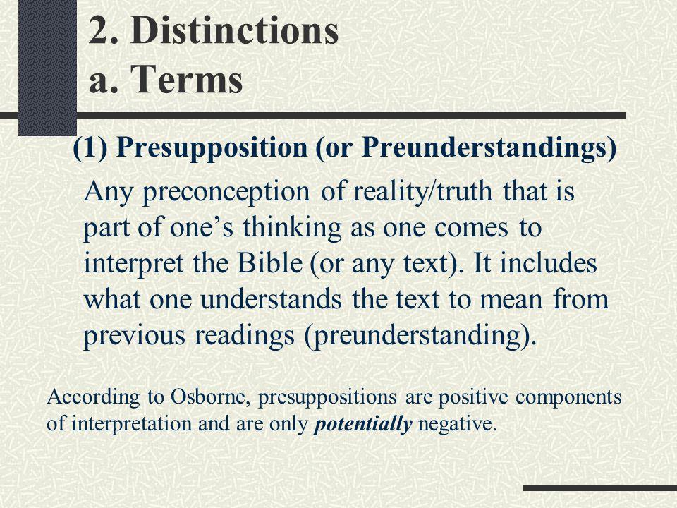 2. Distinctions a.