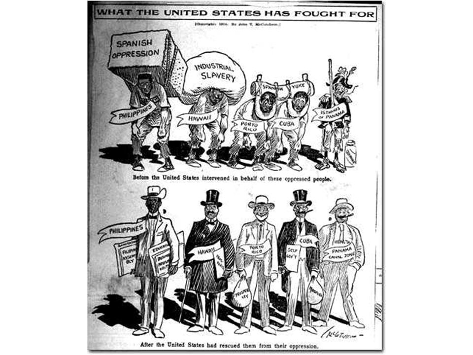 The Spanish-American War of 1898 After the defeat of Spain, Cuba became independent in name but virtually an American colony Spain was forced to cede Puerto Rico and the Philippines, and Hawaii was formally annexed by the U.S.