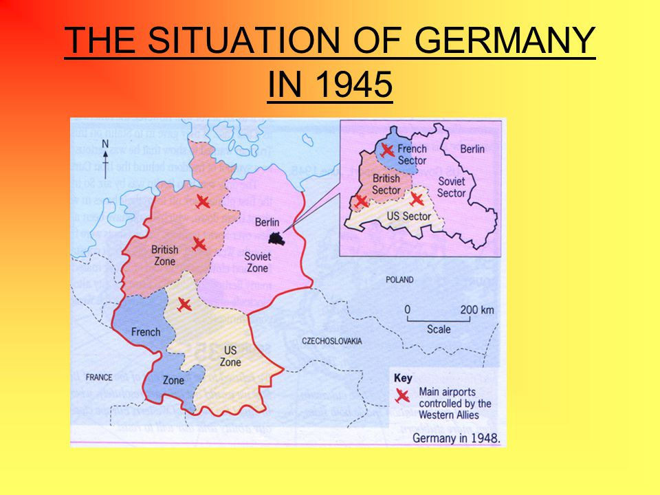 THE SITUATION OF GERMANY IN 1945
