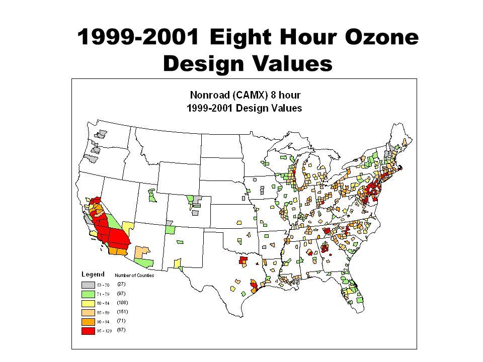 1999-2001 Eight Hour Ozone Design Values