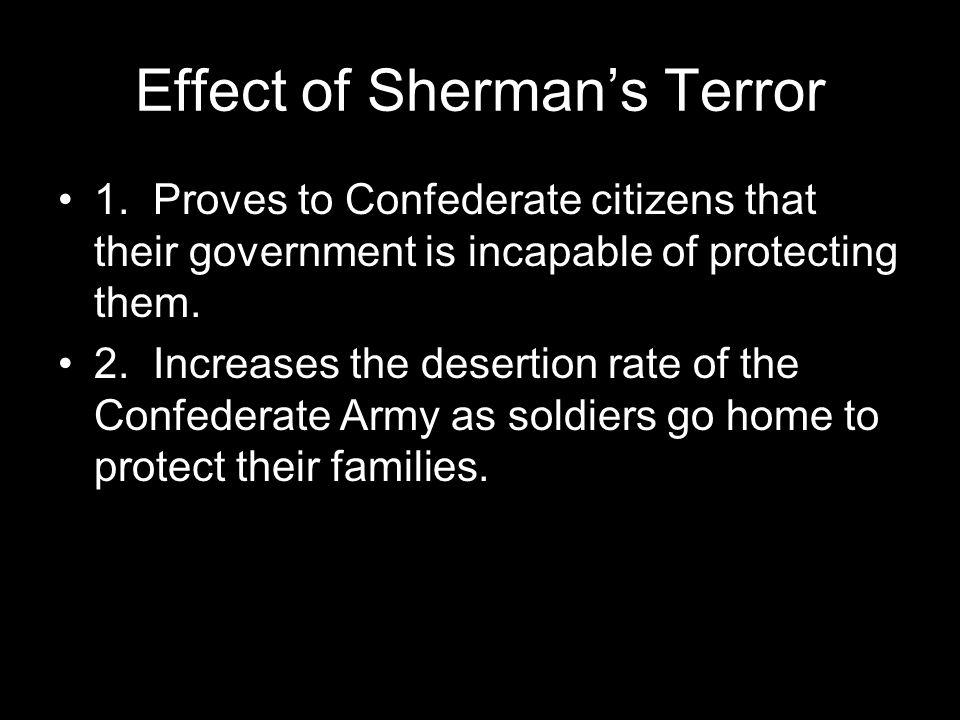 Effect of Sherman's Terror 1.