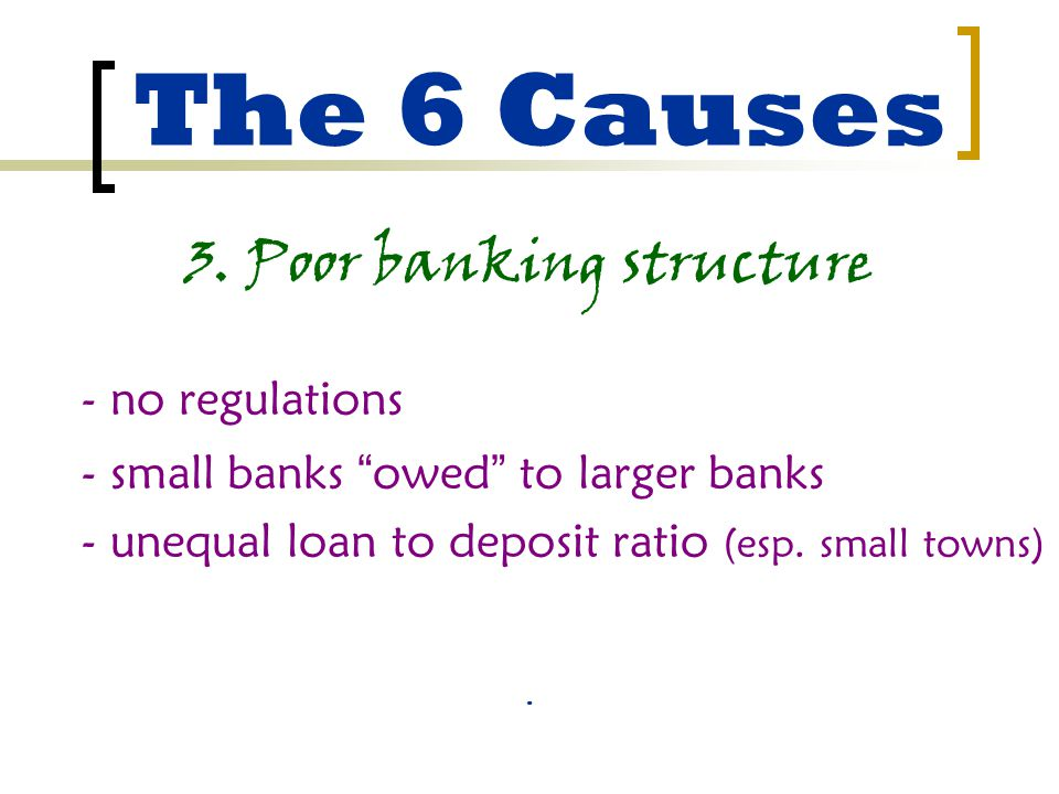 The 6 Causes 3.