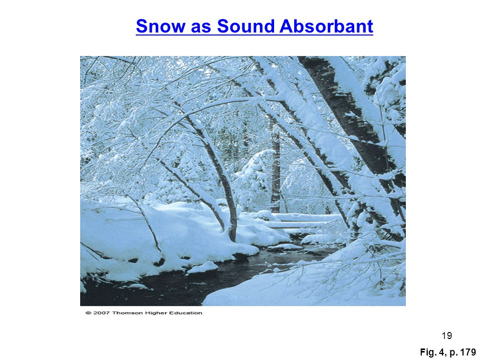 Fig. 4, p. 179 19 Snow as Sound Absorbant