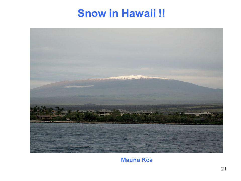 Snow in Hawaii !! 21 Mauna Kea