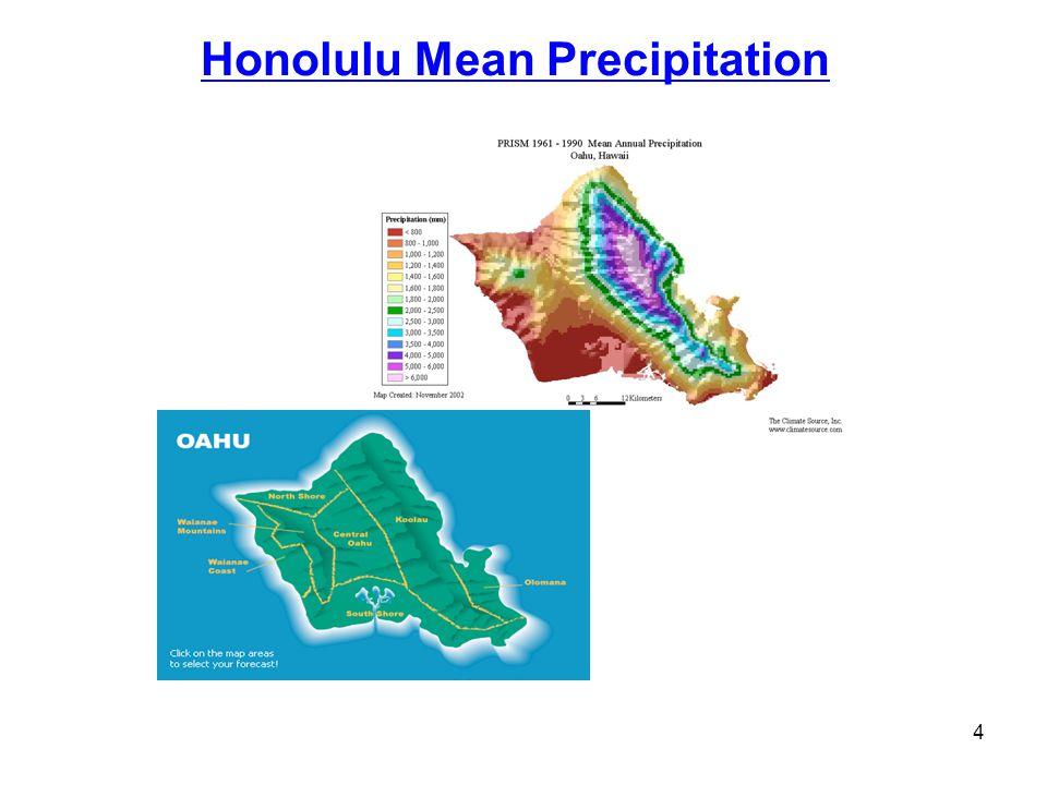 Honolulu Mean Precipitation 4