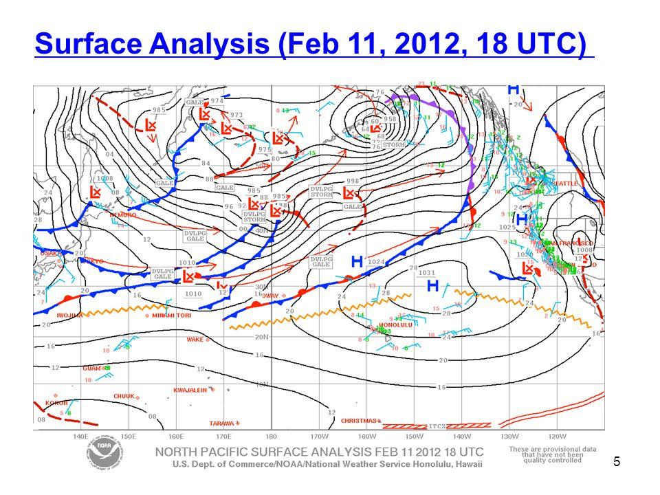 Surface Analysis (Feb 11, 2012, 18 UTC) 5